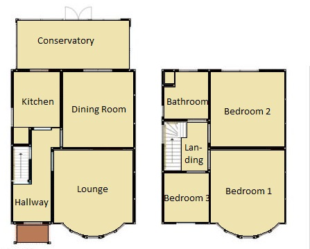 1930s bungalow floor plans 1930s 3 bedroom semi with 300ft garden j r property services